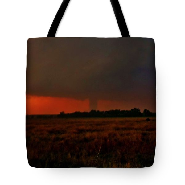 Tote Bag featuring the photograph Rozel Tornado On The Horizon by Ed Sweeney