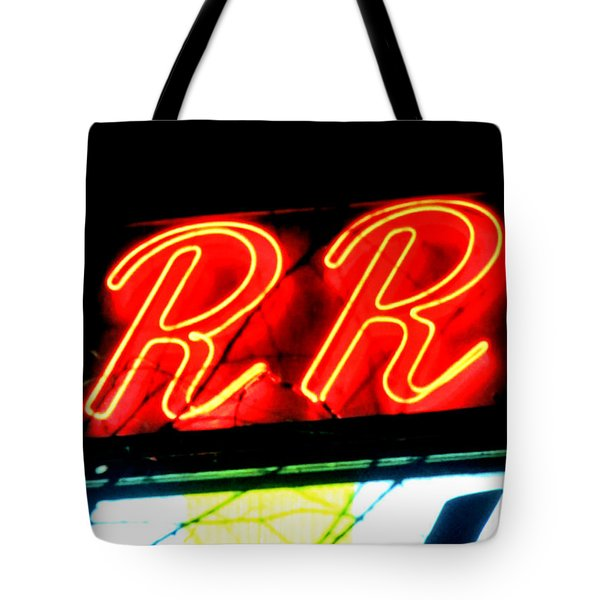 Tote Bag featuring the painting RR by Luis Ludzska