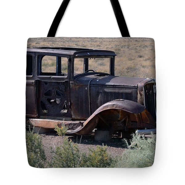 Tote Bag featuring the photograph Rt 66 And Nowhere To Go by Debby Pueschel