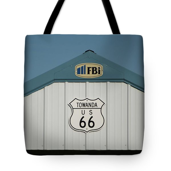 Rt 66 Towanda Plague Tote Bag by Thomas Woolworth
