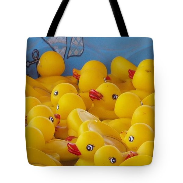 Tote Bag featuring the photograph Rubber Ducky Your The One by John Glass