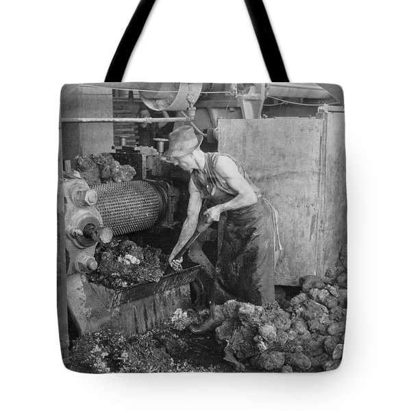 Tote Bag featuring the painting Rubber Production, C1928 by Granger