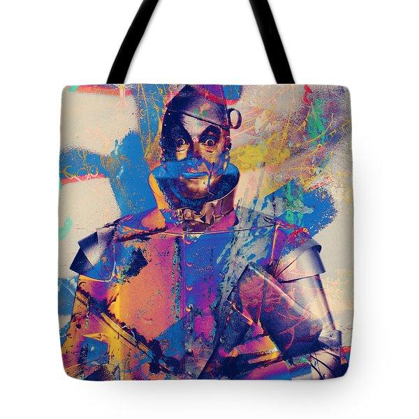 Rubber Tin Man  Tote Bag