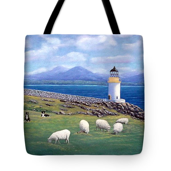 Rubh An Duin Lighthouse Scotland Tote Bag
