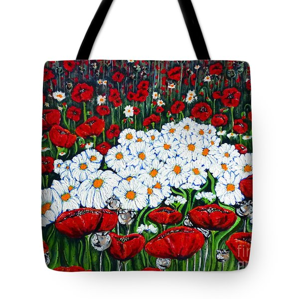 Rubies And Pearls Tote Bag by Jackie Carpenter