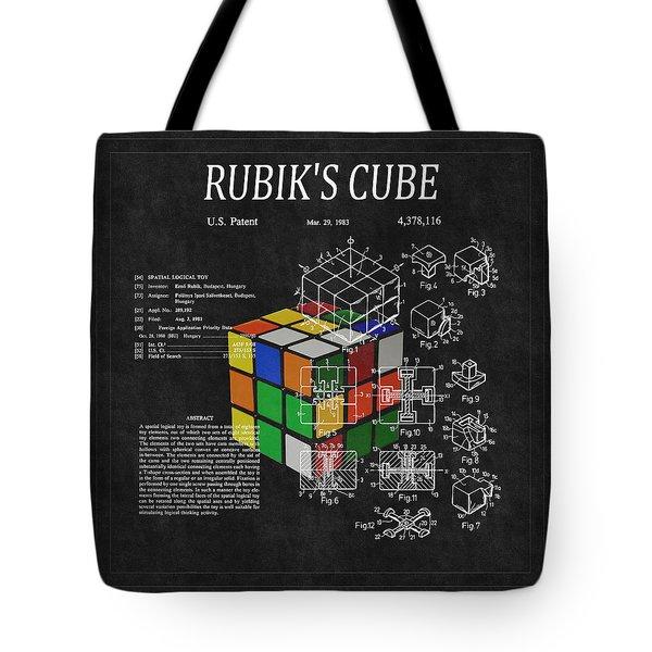 Rubik's Cube Patent 3 Tote Bag