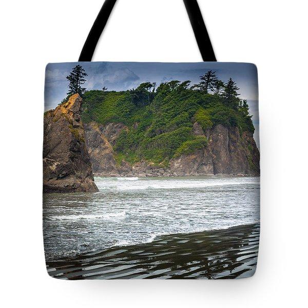 Ruby Beach Seastack Tote Bag