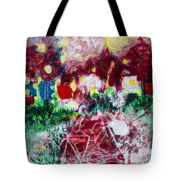 Ruby Brick Road Tote Bag