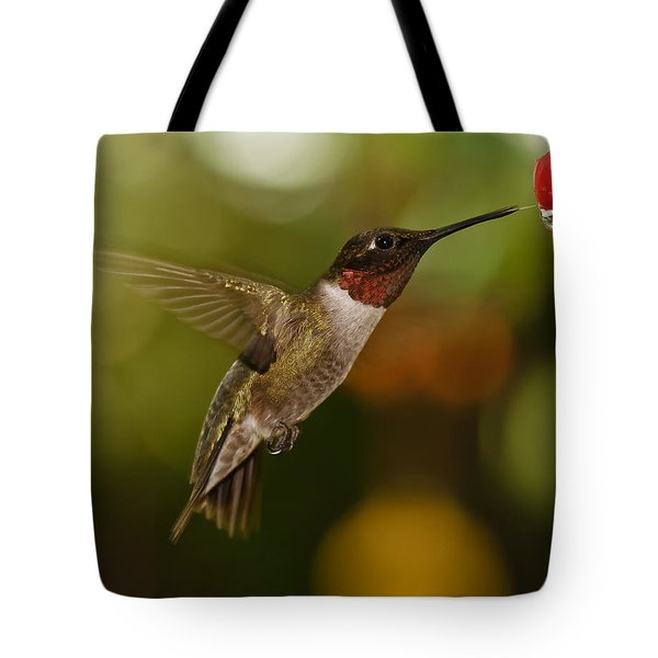 Ruby-throat Hummingbird Tote Bag