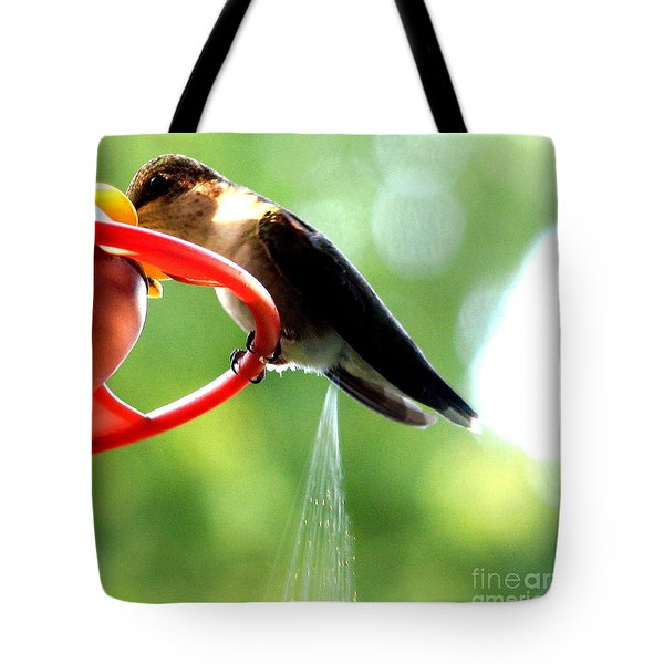 Ruby-throated Hummingbird Pooping Tote Bag
