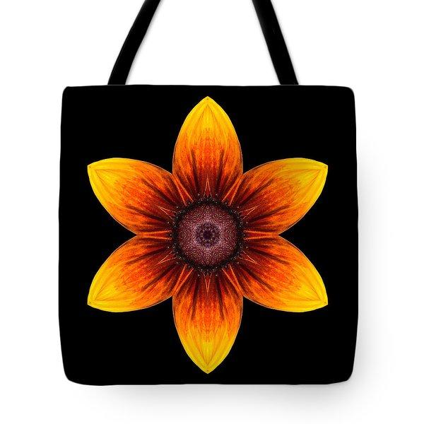 Rudbeckia I Flower Mandala Tote Bag by David J Bookbinder