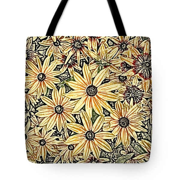 Tote Bag featuring the photograph Rudbeckia - Rudbeckie by Nature and Wildlife Photography