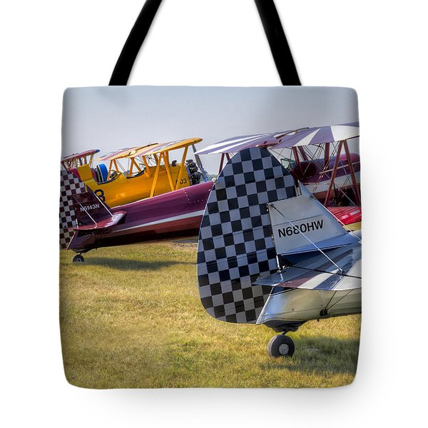 Rudders In A Row Tote Bag by Tim Stanley