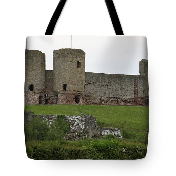 Tote Bag featuring the photograph Ruddlan Castle 2 by Christopher Rowlands