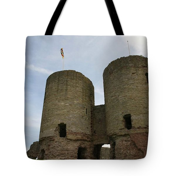 Tote Bag featuring the photograph Ruddlan Castle by Christopher Rowlands