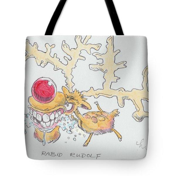 Rudolph The Reindeer Cartoon Tote Bag