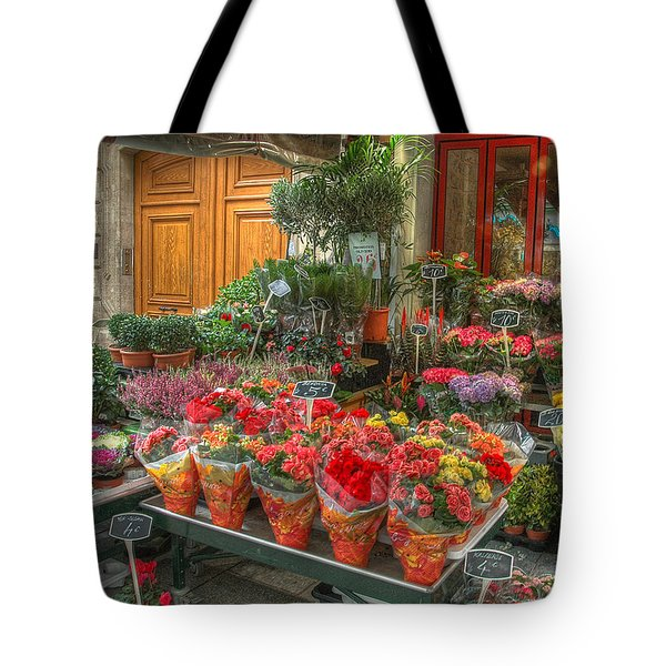 Rue Cler Flower Shop Tote Bag