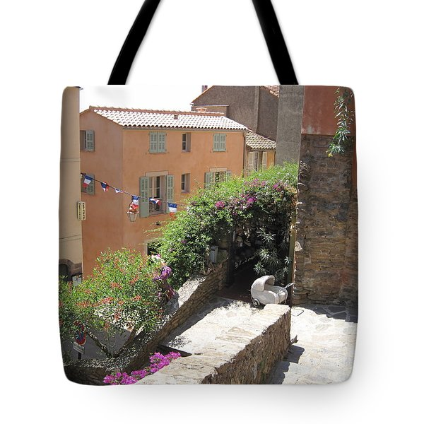 Rue De La Rose Tote Bag by HEVi FineArt