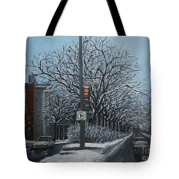 Rue St Jacques Tote Bag by Reb Frost