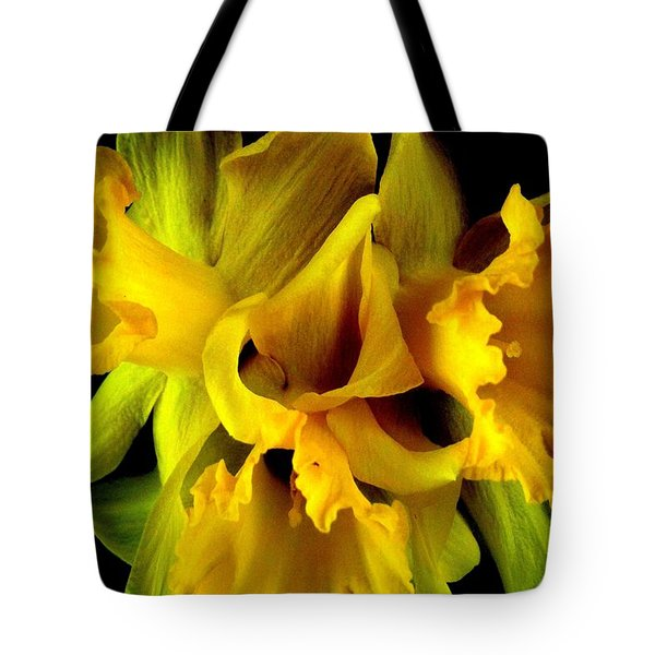 Tote Bag featuring the photograph Ruffled Daffodils by Marianne Dow