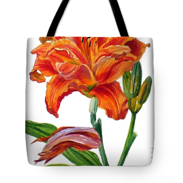 Ruffled Orange Daylily - Hemerocallis Tote Bag
