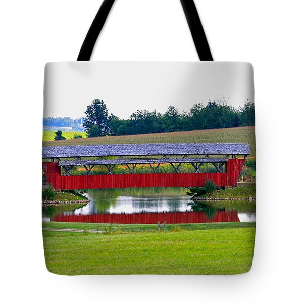 Ruffner Covered Bridge Tote Bag by Jack R Perry