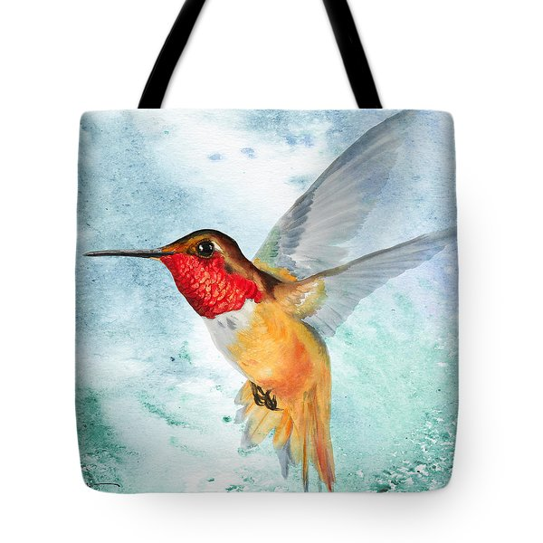 Da199 Rufous Humming Bird By Daniel Adams Tote Bag