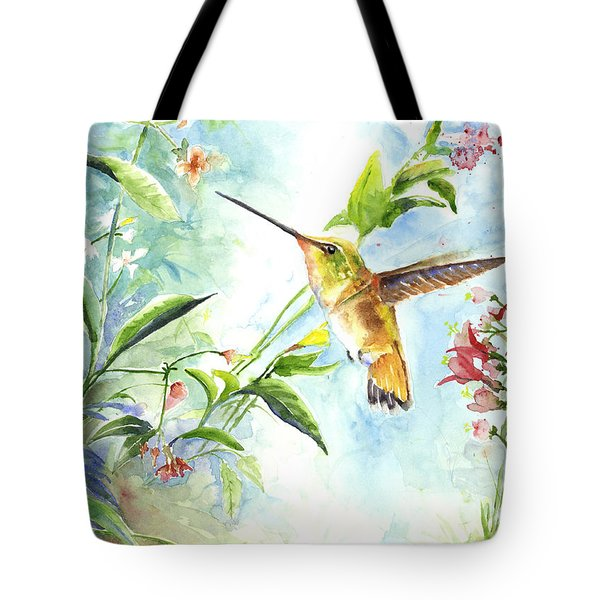 Tote Bag featuring the painting Rufus Paradise by Arthur Fix
