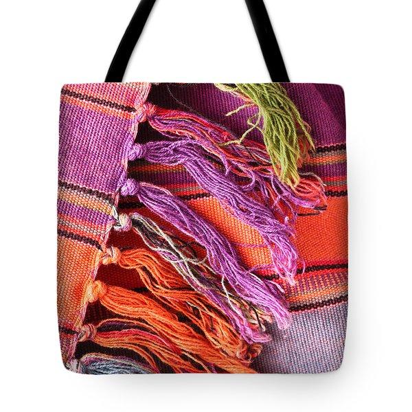 Rug Tassels Tote Bag by Tom Gowanlock