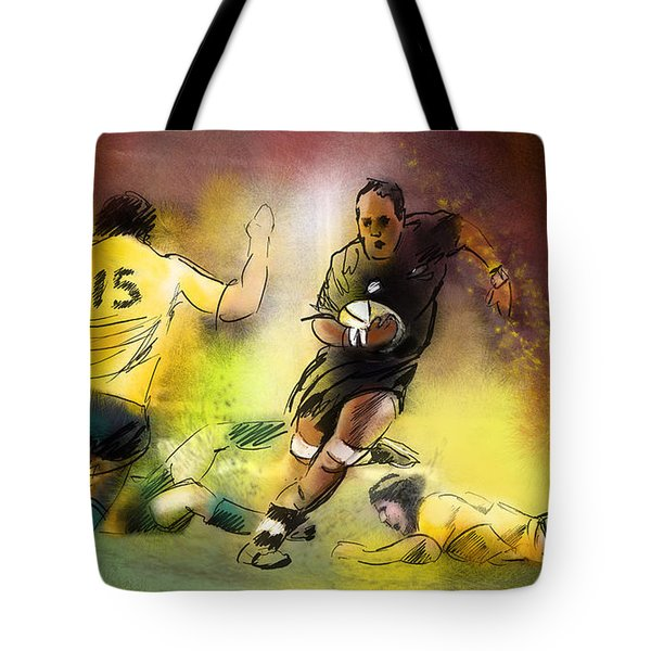 Rugby 01 Tote Bag by Miki De Goodaboom