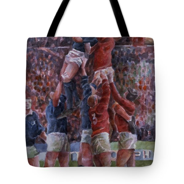 Rugby International, Wales V Scotland Wc On Paper Tote Bag