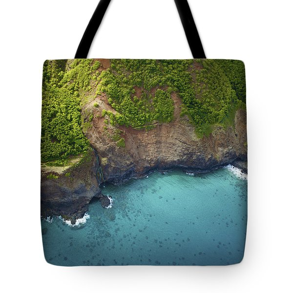 Rugged Kauai Coastline Tote Bag by Kicka Witte
