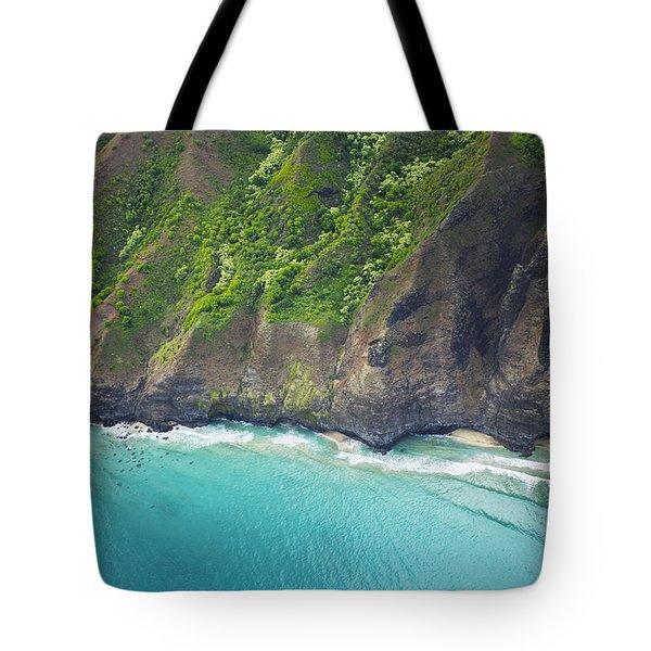 Rugged Na Pali Coast Tote Bag by Kicka Witte