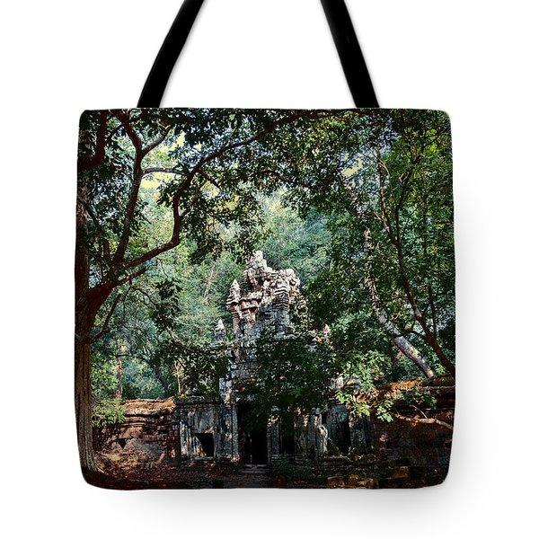 Ruin At Angkor Wat Tote Bag