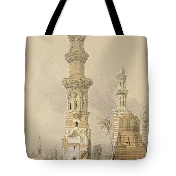 Ruined Mosques In The Desert Tote Bag by David Roberts