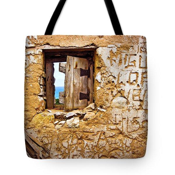 Ruined Wall Tote Bag by Carlos Caetano