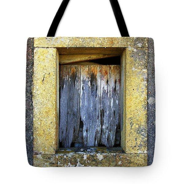 Ruined Window Tote Bag by Carlos Caetano