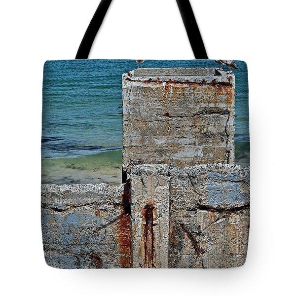 Ruins At Monterey Bay Tote Bag by Susan Wiedmann