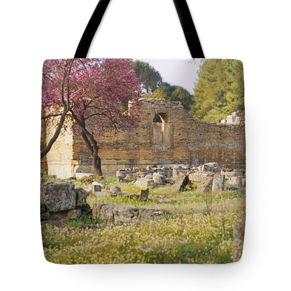 Ruins Of A Building, Ancient Olympia Tote Bag
