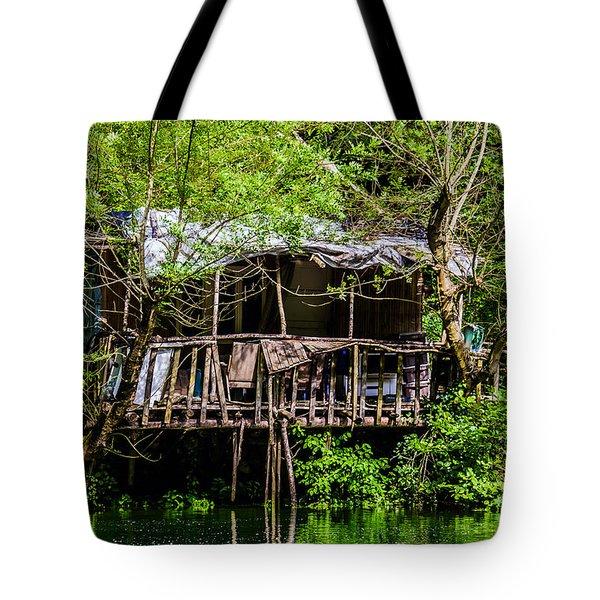 Ruins Of A House Tote Bag by Sotiris Filippou