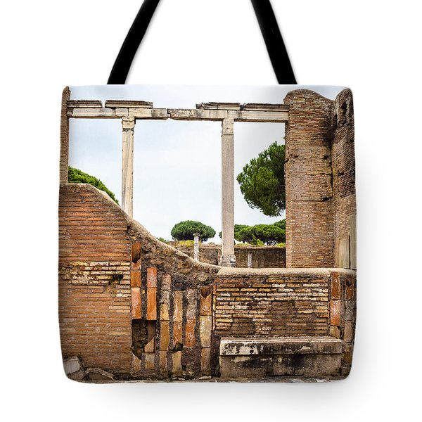 Ruins Of Ostia Antica Tote Bag