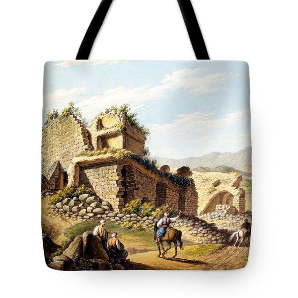 Ruins Of The Stadium, 1790s Tote Bag by Gaetano Mercati