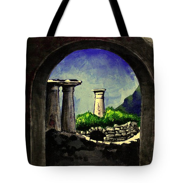 Tote Bag featuring the painting Ruins by Salman Ravish