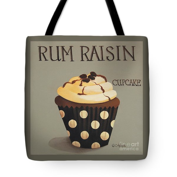 Rum Raisin Cupcake Tote Bag by Catherine Holman
