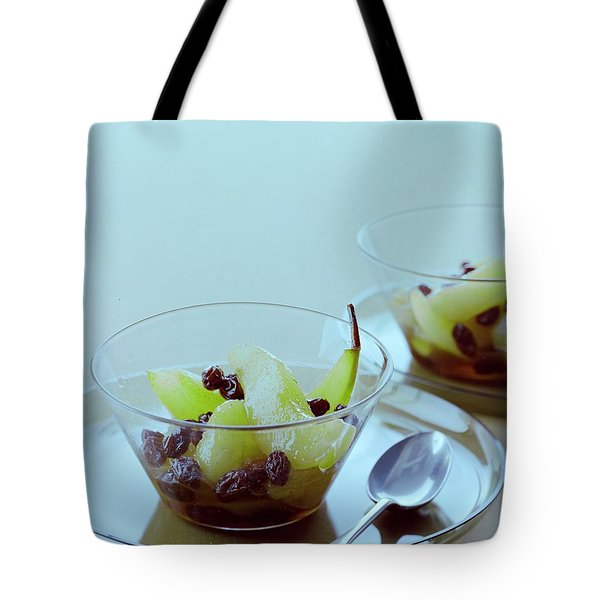 Rum Raisin Poached Pears Tote Bag