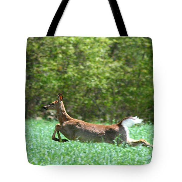 Run Forest Run Tote Bag by Neal Eslinger