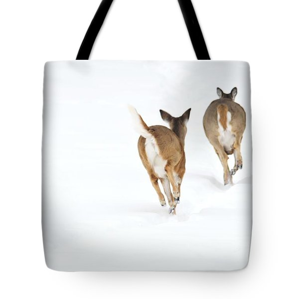 Tote Bag featuring the photograph Run Forrest Run by Dacia Doroff