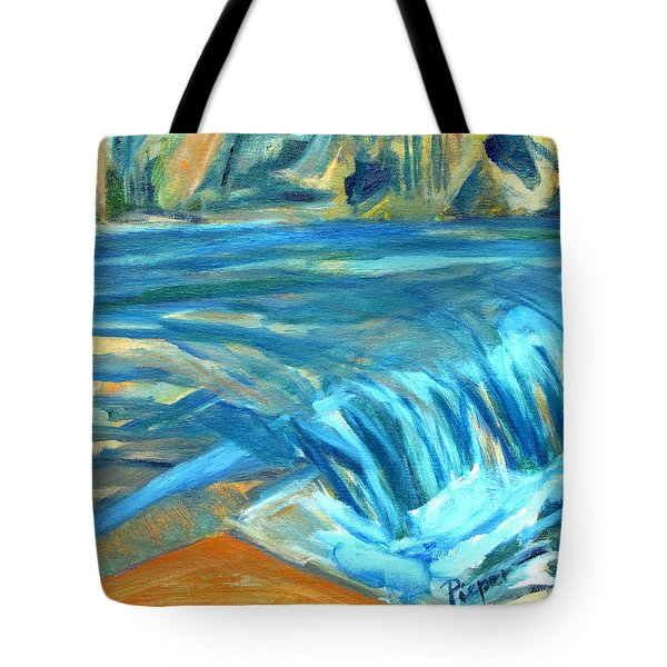 Run River Run Over Rocks In The Sun Tote Bag by Betty Pieper