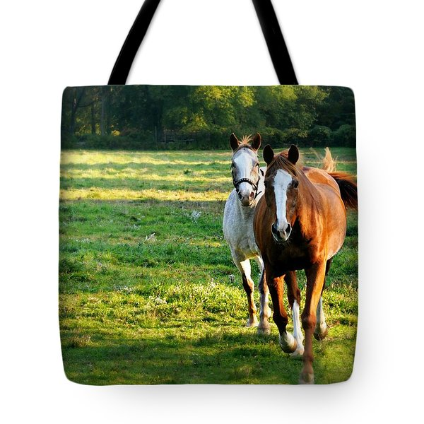 Run To Me Tote Bag