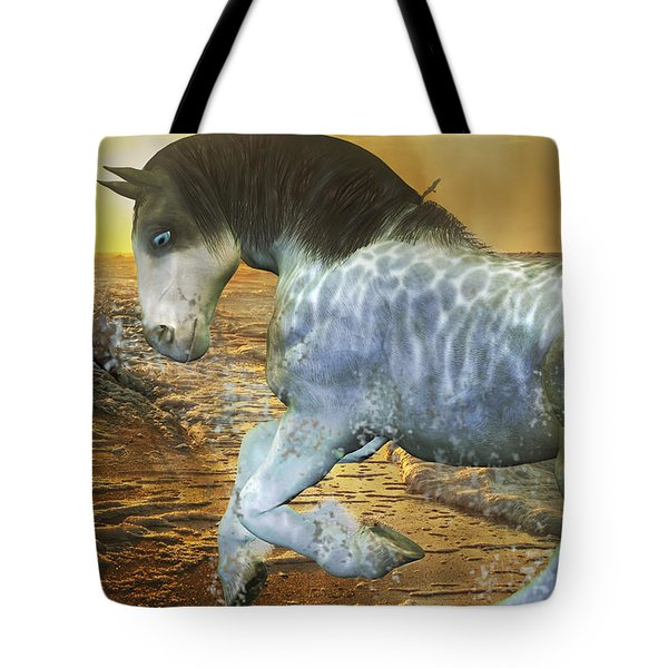 Run With Me Sunrise Tote Bag by Betsy Knapp